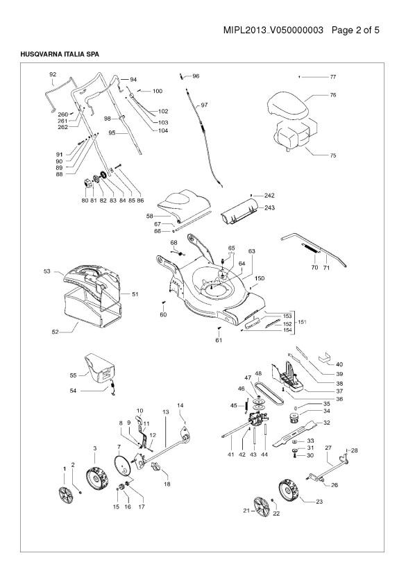 [DIAGRAM_3US]  McCulloch M51-140 RX (96717330103) Lawnmower MOWER DECK / CUTTING DECK  Spare Parts Diagram | Mcculloch 140 Wiring Diagram |  | Ransom Spares