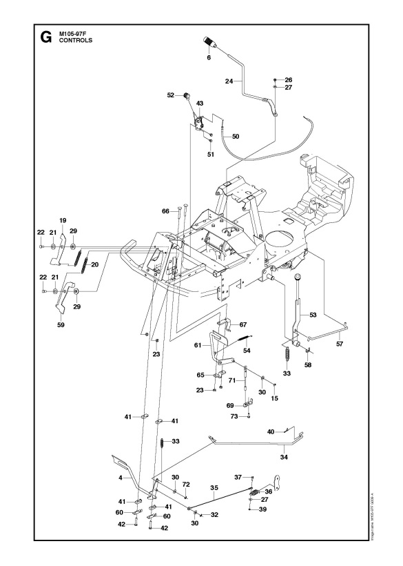 Mcculloch M105 97f 966725501 Ride On Mower Controls