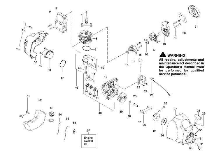 Mcculloch Mt250lk 966553501 Trimmer Engine Spare Parts Diagram