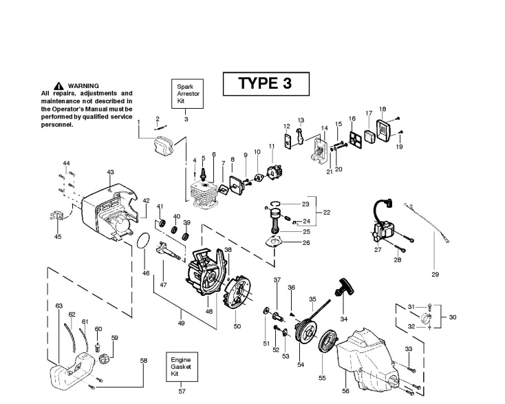 mcculloch tm251 952715438 trimmer engine spare parts diagram rh ransomspares co uk