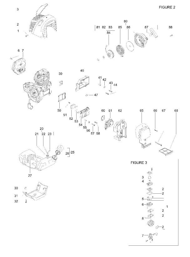 husqvarna engine diagram model 41