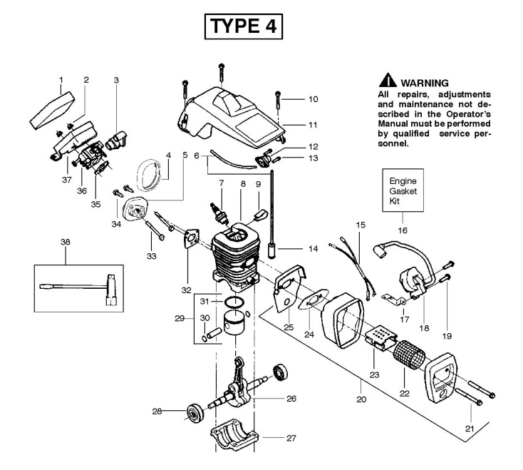 partner 350 (952801902) chainsaw engine spare parts diagram  husqvarna chainsaw engine diagram #9