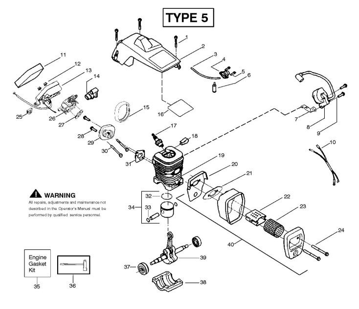 partner 351 370 390 420  952801802  chainsaw engine spare