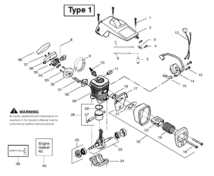 partner 371 (952801913) chainsaw engine spare parts diagram