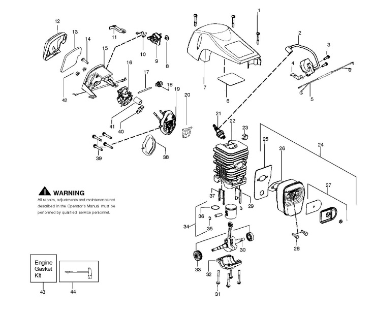 Partner P740  952802190  Chainsaw Engine Spare Parts Diagram