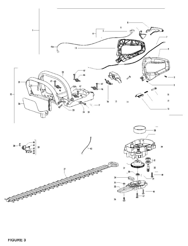 Partner HG65 (953900523) Hedge Trimmer CLUTCH & OIL PUMP Spare Parts