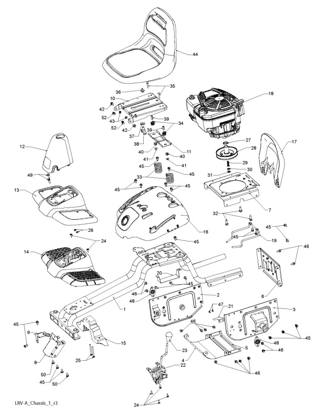 Partner P66-950SMD (96021001300) Ride On Mower CHASSIS