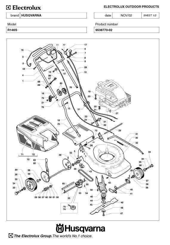 Husqvarna ROYAL 146 S  953877002  Lawnmower PRODUCT