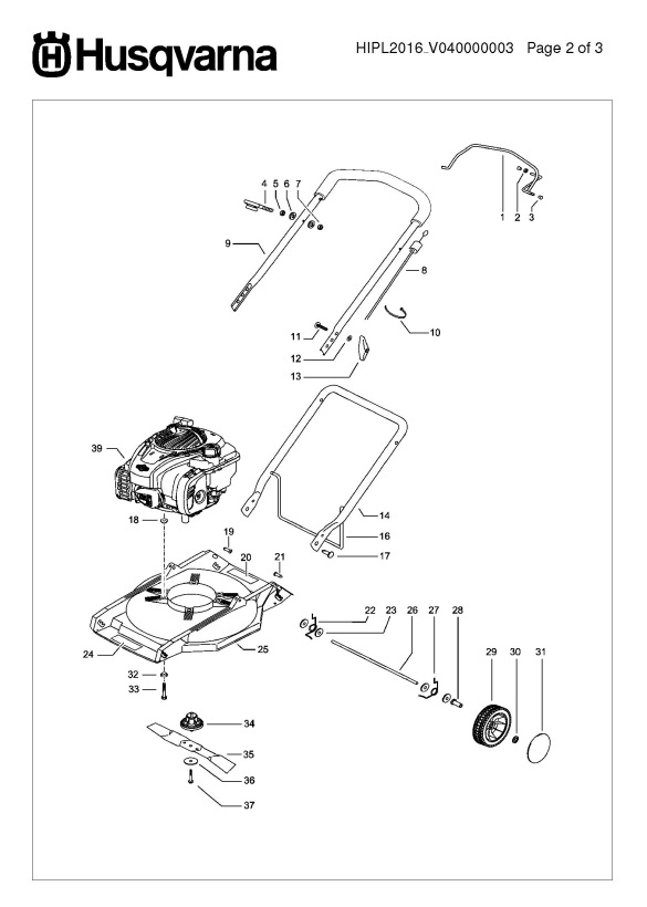 husqvarna lb146  96725770101  lawnmower product complete spare parts diagram
