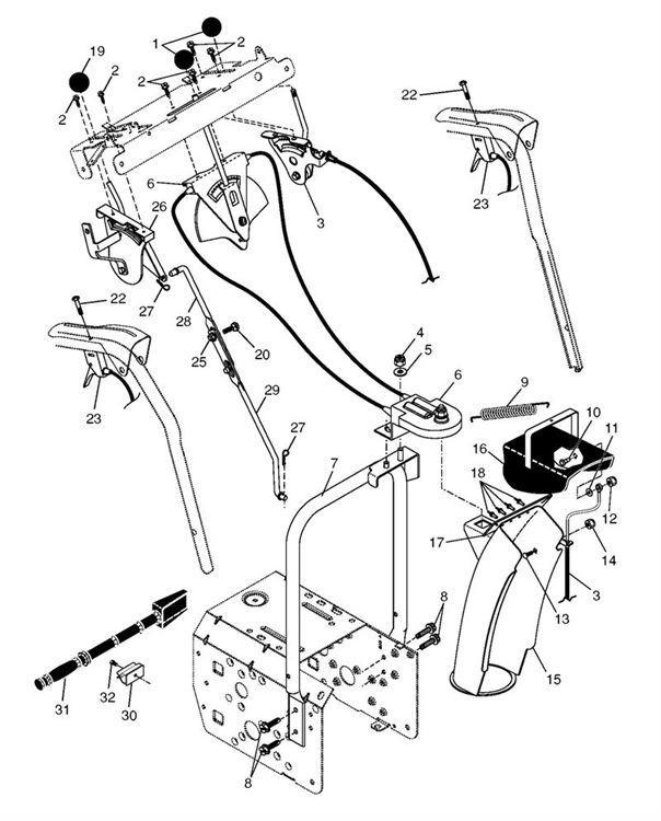 Partner Sb300 96191000706 Garden Vacuum Control Panel Discharge