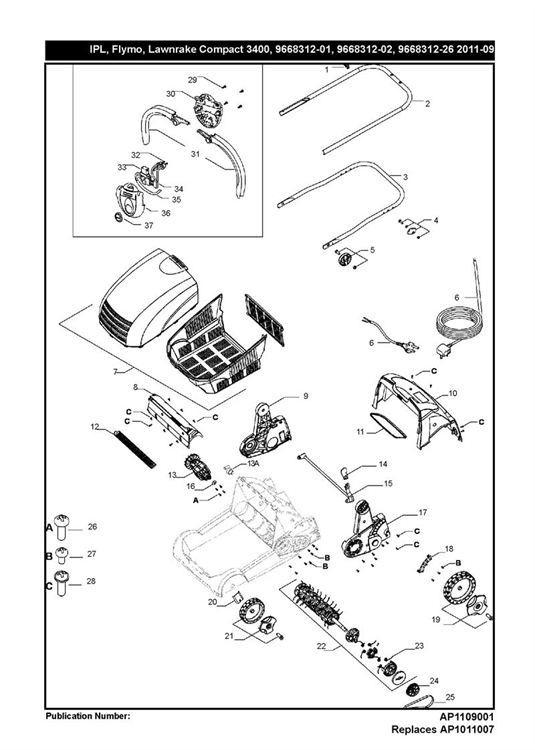 LAWNRAKE COMPACT 3400 (966831202)