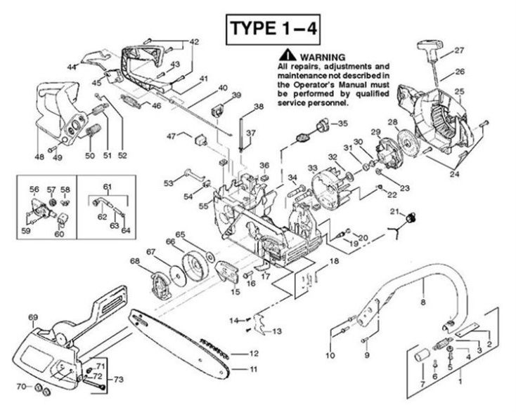 Partner 351  370  390  420  952801732  Chainsaw Chassis  U0026 Enclosures1 Spare Parts Diagram