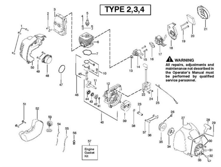 Mcculloch Trim Mac 250ls 952715743 Trimmer Engine2 Spare Parts Diagram