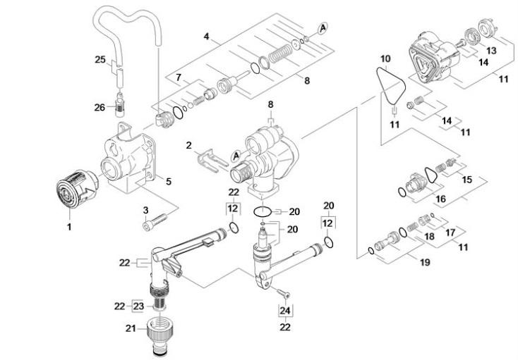 karcher k4 compact eu pressure washer housing spare parts diagram. Black Bedroom Furniture Sets. Home Design Ideas