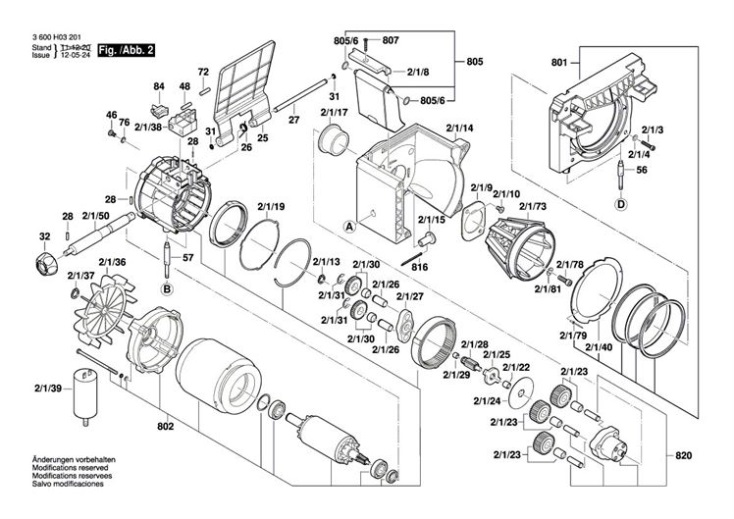 Bosch Axt 25 Tc  3600h03371  Chopper Diagram 2 Spare Parts
