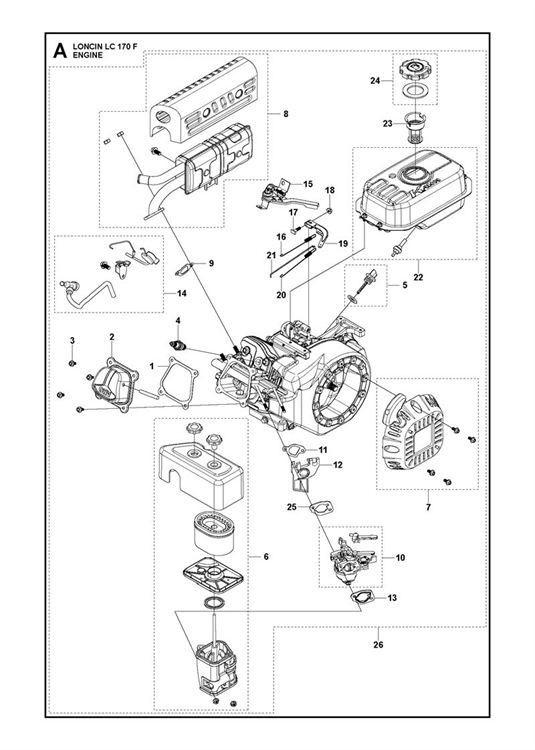 Mcculloch Mft 55 170r 966649501 Cultivator Engine Spare Parts Diagram