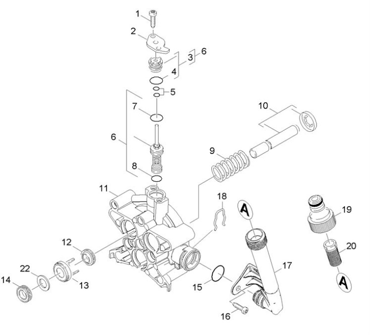 Karcher md eu pressure washer thrust guidance spare parts diagram - Karcher k7 85 ...