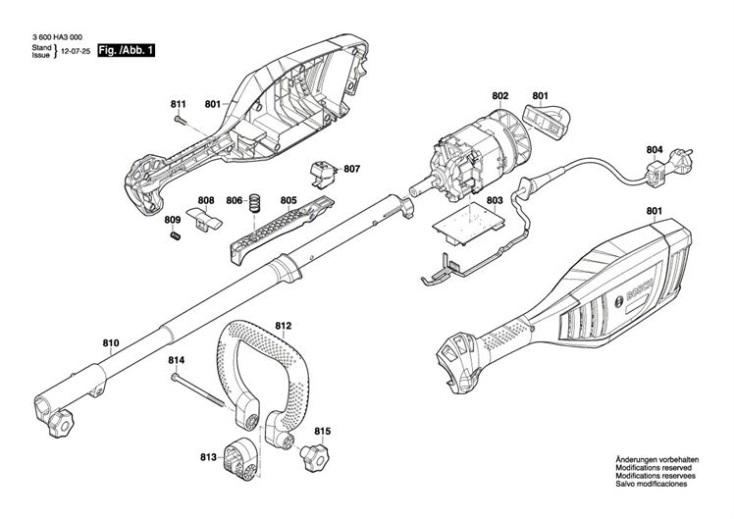 Bosch Amw 10  3600ha3070  Trimmer Diagram 1 Spare Parts Diagram