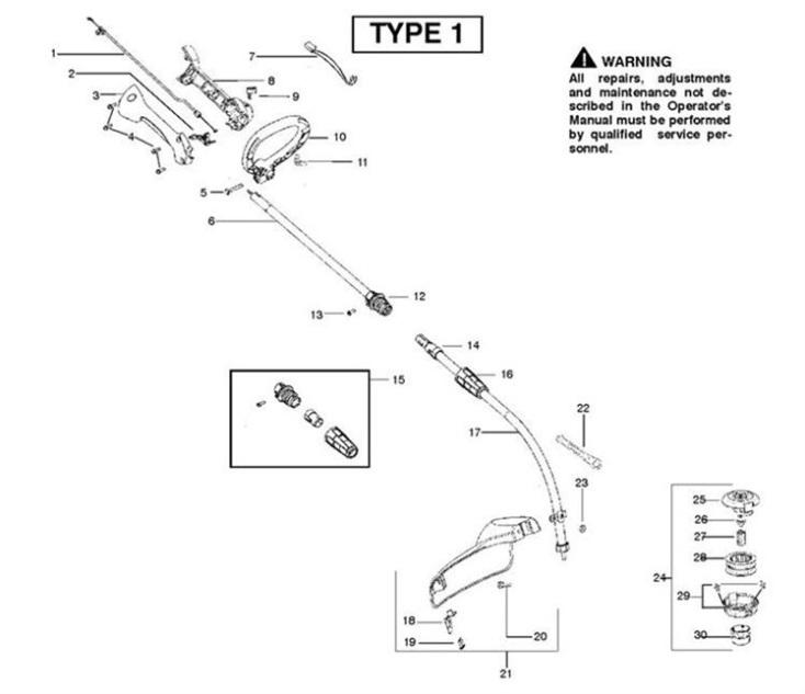 Mcculloch Trim Mac 250ls  952715743  Trimmer Shaft