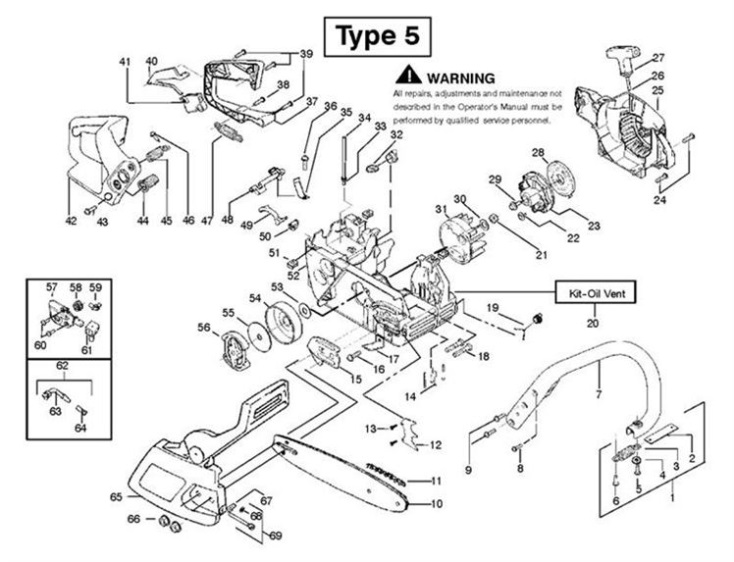 Chainsaw Maintenance Diagram Simple Wiring Schemapartner 351 370 390 420 952801741: Denso Alternator Wiring Jeep At Johnprice.co