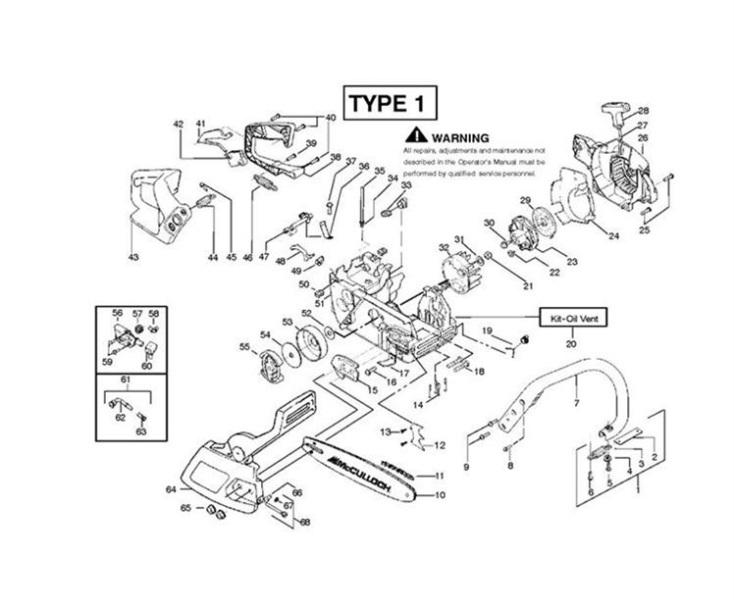 Mcculloch Mac 2316 Av 952802077 Chainsaw Spares Parts