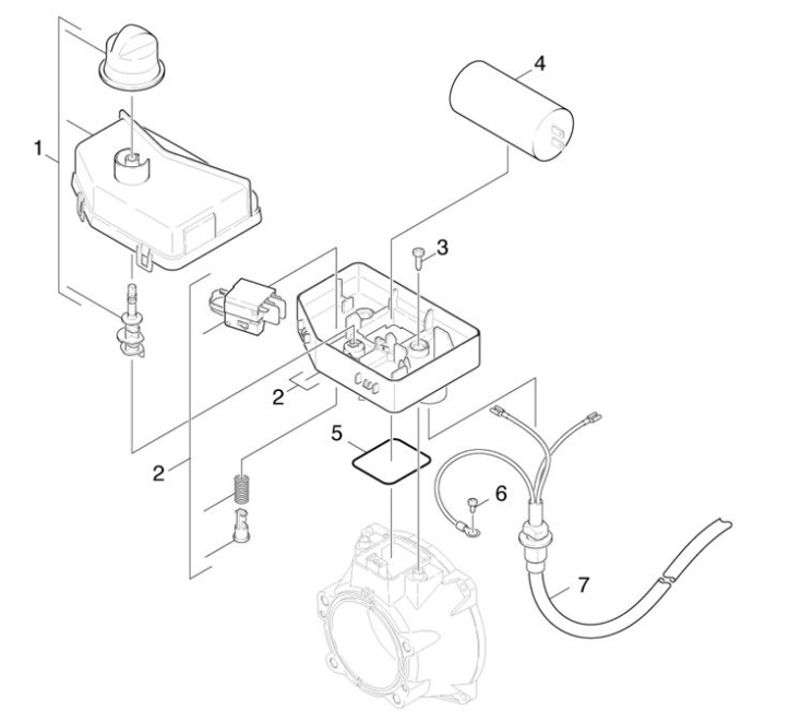 Karcher gb pressure washer electric control box spare parts diagram - Karcher k7 85 ...
