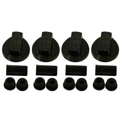Black Universal Oven Knobs x 4