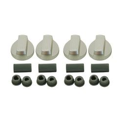 Silver Universal Oven Knobs x 4