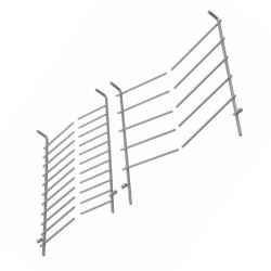 Upper Top Basket Plate Rack Flip Tine Inserts