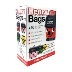 Genuine Henry Hepaflo Filter Hoover Bags x 10