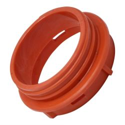 Red Threaded Hose Connector