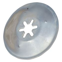 F016506042 Genuine Qualcast EASI TRAK 32 Wheel Securing Cap 8mm BLACK Lawnmowe