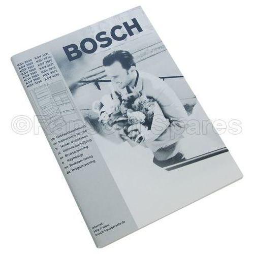 bosch fridge freezer instruction manual part number 00523180 for rh ransomspares co uk Bosch Counter-Depth Refrigerator Who Makes Bosch Refrigerators